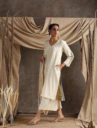 Ivory Cotton Khadi Kurta