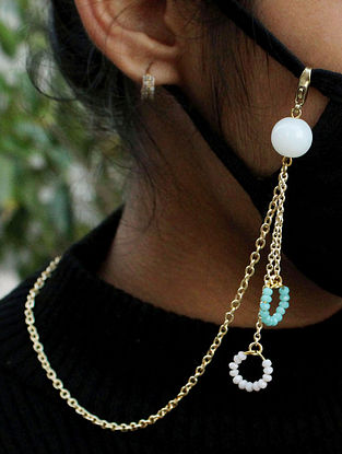 Turquoise White Handcrafted Mask Chain