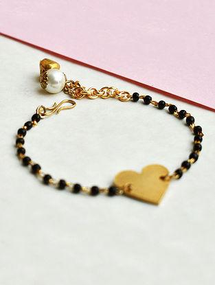 Black Gold Tone Beaded Mangalsutra Bracelet
