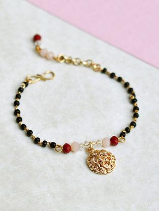 Black Gold Tone Mangalsutra Bracelet