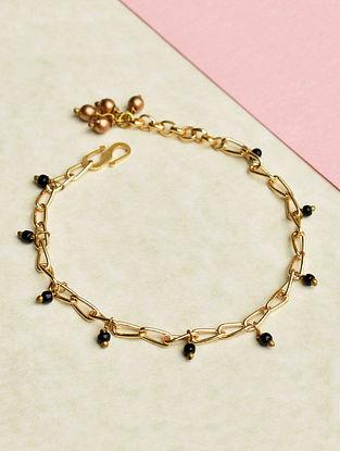 Black Gold Tone Handcrafted Bracelet