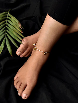 White Gold Tone Handcrafted Anklets