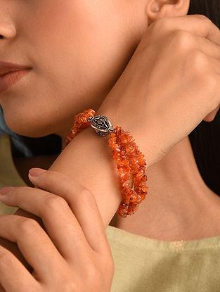 Carnelian  Sterling Silver Bracelet