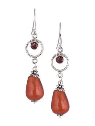 Carnelian Garnet  Sterling Silver Earrings