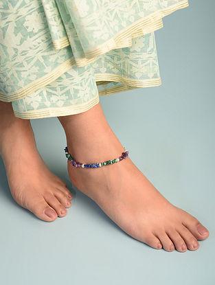 Multistone Sterling Silver Anklet