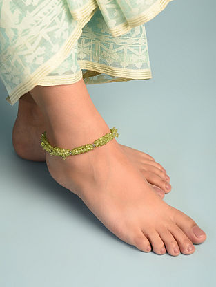 Peridot  Sterling Silver Anklet
