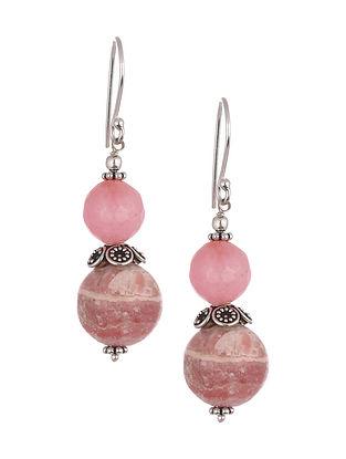 Pink Jasper Agate Sterling Silver Earrings