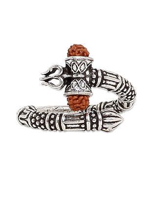 Sterling Silver Rudraksha Ring