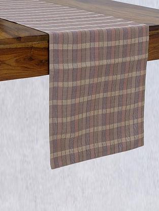 Dusty Pink Handloom Silk Table Runner (L - 84in ,W - 13in)