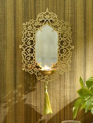 Gangaur Wall Mirror (L - 9.5in ,W - 5in ,H - 14in)