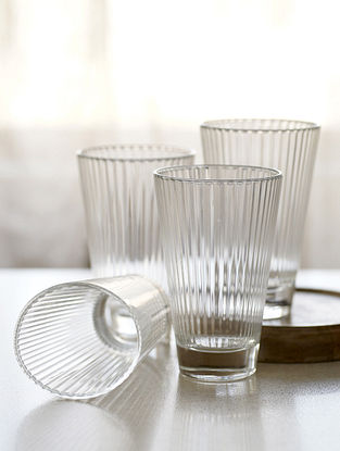 Clear Samudra Water Glass (Set Of 4)