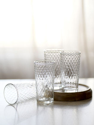 Clear Raasa Water Glass (Set Of 4)