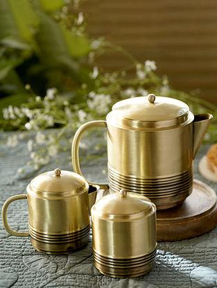 Antique Brass Bhor Tea Set