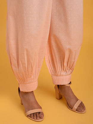Pastel Pink Cotton Lurex Pants