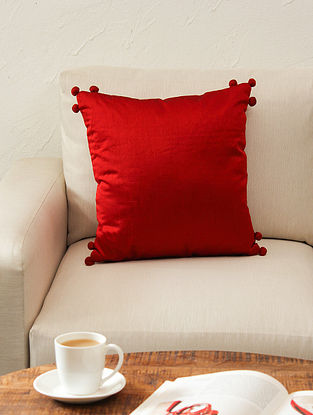 Rust Cushion Cover (L - 16in ,W - 16in)