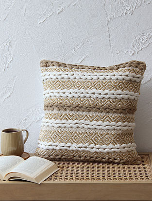Brown Cushion Cover (L - 16in ,W - 16in)