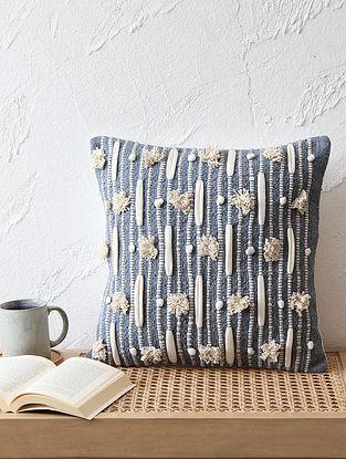 Blue Cushion Cover (L - 16in ,W - 16in)
