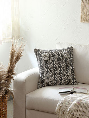 Grey Cushion Cover (L - 16in ,W - 16in)