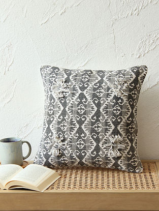 Grey Cushion Cover (L - 24in ,W - 24in)
