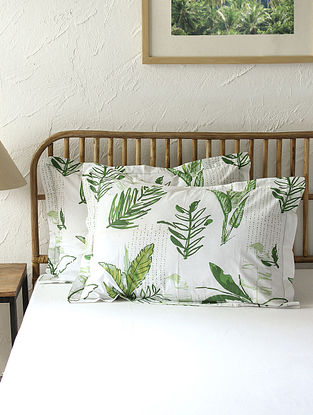 Green Pillow Cover Set(L - 28in ,W - 18in)