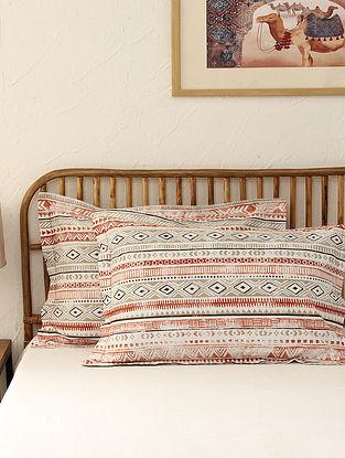 Multicolour Pillow Cover Set(L - 28in ,W - 18in)