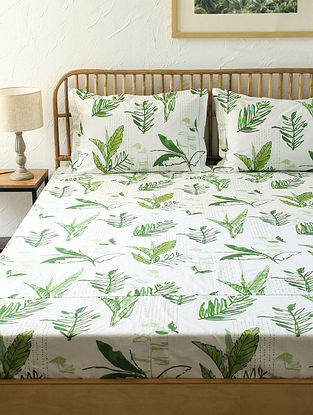 Green Double Bedsheet Set