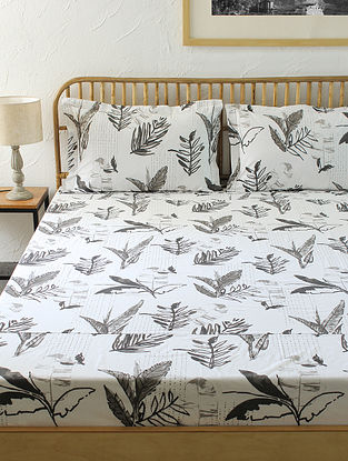 Grey Kingsize Bedsheet Set