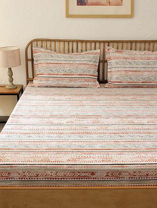 Multicolored Kingsize Bedsheet Set