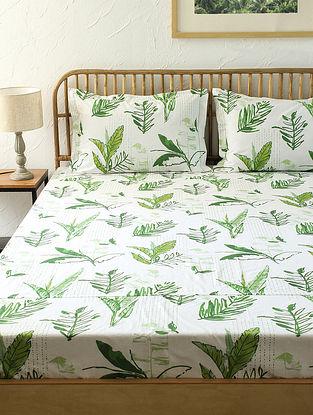 Green Fitted Bedsheet Set