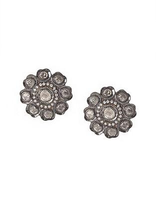 Silver Polki Earrings