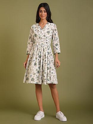 White Floral Cotton dress