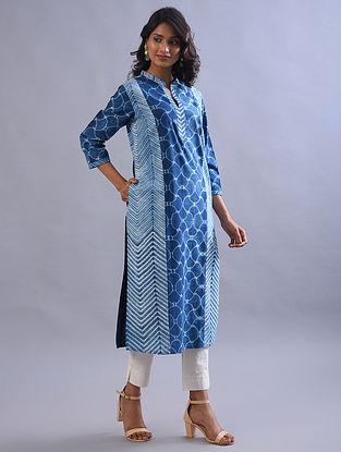 Indigo Shibori Cotton Kurta