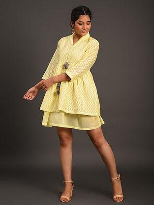 Yellow Cutwork Cotton Dress