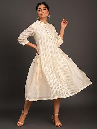 Off White Cutwork Kurta Dress