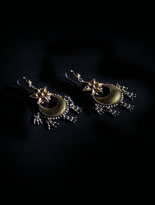 Gold Plated Tribal Silver Earrings