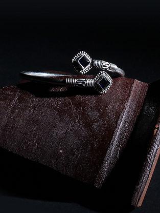 Tribal Silver Adjustable Bangle