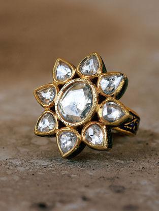 Gold Polki Ring (Size: 14)