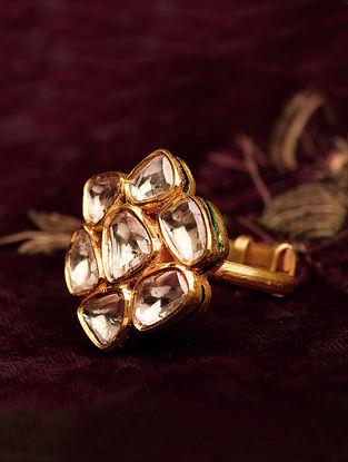 Gold Polki Ring (Size: 17)