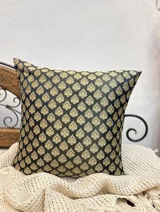 Grey Handloom Woven Ethnic Motif Cushion Cover (Set of 2) (L - 16in ,W - 16in)