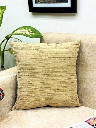 Gold Raw Silk Cushion Cover