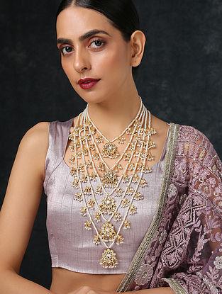 Gold Tone Layered Kundan Necklace