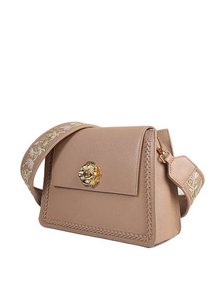Nude Handcrafted Genuine Leather Sling Bag