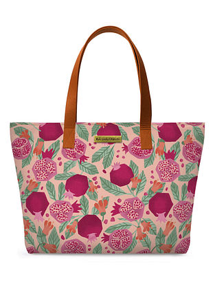 Multicolored Handcrafted Printed Canvas Tote Bag