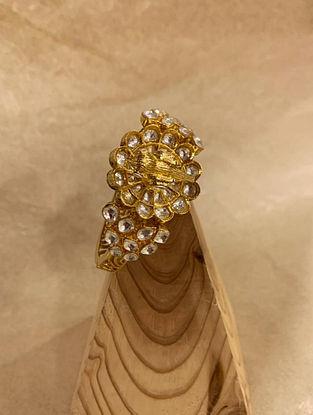 Gold Tone Kundan Openable Bangle (Bangle Size-2/4)