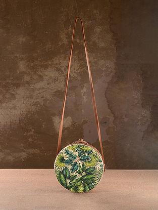 Multicolored Handpainted Rattan Sling Bag