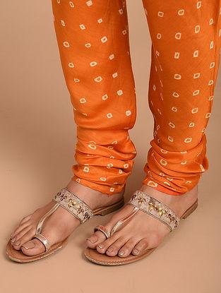Orange Cotton Silk Churidar