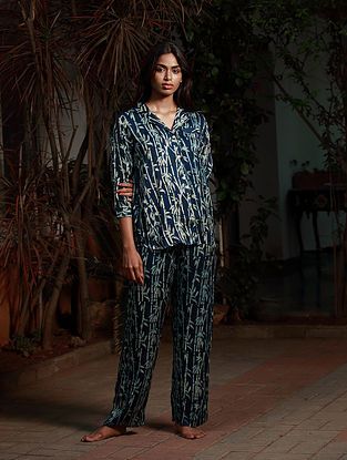 Blue Ajrakh Modal Pyjama Set