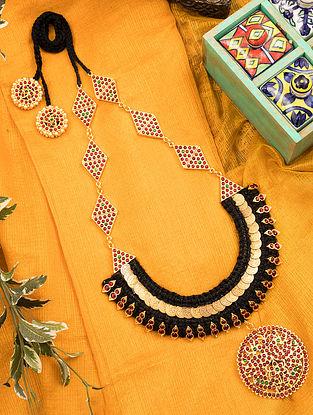 Multicolored Gold Tone Temple Necklace