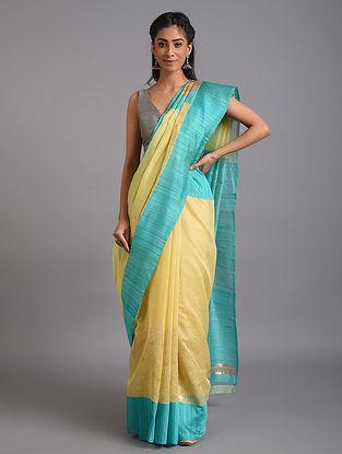 Yellow Handwoven Benarasi Silk Cotton Saree