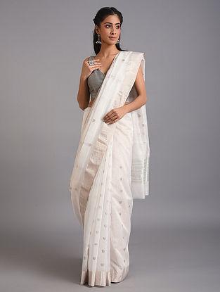 White Handwoven  Chanderi Saree